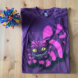 NWOT Purple Cheshire Cat Tee Alice in Wonderland